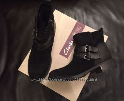 замшавые ботинки Clarks евро зима размер 37-37, 5