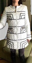 Женское демисезонное стильное стёганное пальто 42-44р