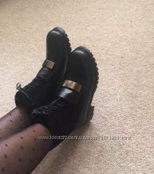 Женские теплые зимние ботинки челси с украшением, шнуровкой, 36-40р