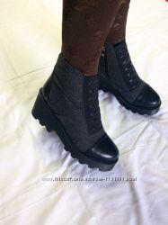 Женские зимние серые ботинки из войлока на ребристой подошве, 36-40р