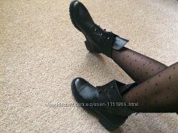 женские кожаные демисезонные ботинкиполусапоги Hermes с болтами, 36-40
