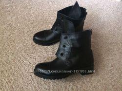 женские кожаные демисезонные ботинки Hermes с болтами, 35-41