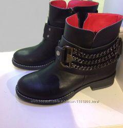 Женские демисезонныезима ботинки челси Hermesс цепями, на низком каблук