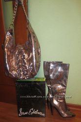 продается набор  эксклюзивные сапоги под змеиную кожу сумка
