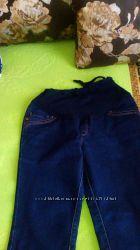 джинсы на флисе для беременной 42р