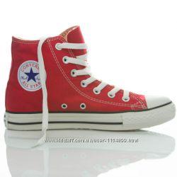 Красные высокие кеды Converse All Star