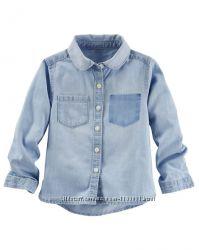 Джинсовые рубашки Carter&acutes 24 мес-4t