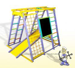 Детский спортивно-игровой комплекс Кораблик цветной
