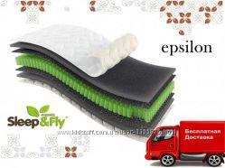 Матрас ортопедический жесткий Эпсилон Epsilon Sleep&Fly Organic с Доставкой