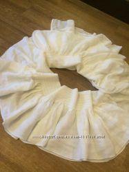 Белый шарфшаль