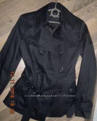 Отличная куртка-ветровка черная Miss Shilly размер М-L