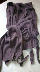 шарф винного оттенка