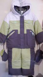 Фирменный польский зимний комплект курткакомбинезон новый р. 98