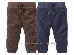 вильветовые штаны на подкладе Lupilu 0-6мес