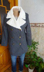 Шерстяное пальто бушлат old navy gap peacoat