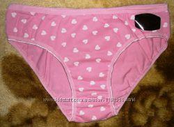 Трусики женские в сердечках розовые Турция р 44-48