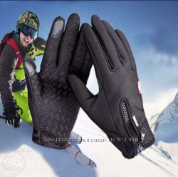 Зимние велоперчатки перчатки Windstopper, непромокаемые, непродуваемые