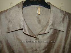 Блуза, большой размер, шелк, Италия, Bottega