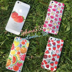 Красивые силиконовые чехлы на IPhone5, 5S