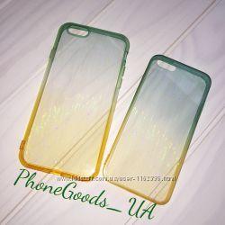 Красивые чехлы на IPhone6, 6S Iphone5, 5S градиент