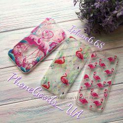 Шикарные силиконовые чехлы с фламинго для IPhone6, 6S
