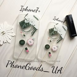 Chanel силиконовые чехлы на Iphone7, iPhone7plus