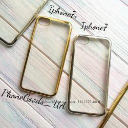 Красивый силиконовый чехол с ободком для Iphone7, Iphone7plus