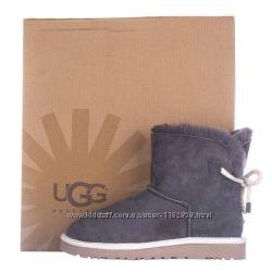 Женские угги UGG Shoelace серые