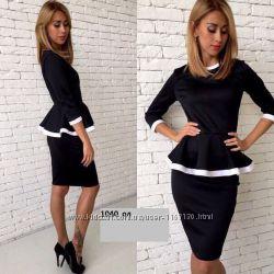 Святкова сукня с баскою