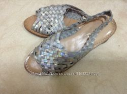 Новые кожаные серебряные босоножки Little missy 31 р-ра 20. 5 см