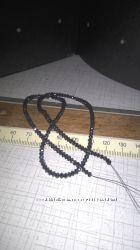 Ожерелье с натуральными черными бриллиантами. 23. 83 кт.