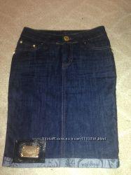 Модная джинсовая юбка размер 26