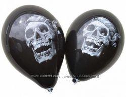 воздушные шары  и подвесные фонарики к Хэллоуину