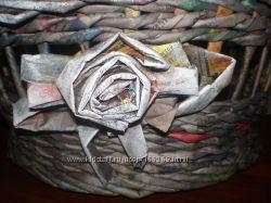 Плетеная корзина с душой