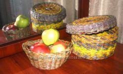 Плетеные корзины, конфетницы, вазы и под заказ