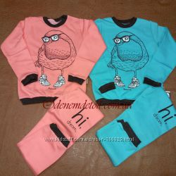 Пижама теплая для девочки ПЖ134135 Robinzone