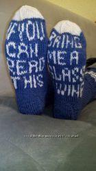 Красивые вязаные носки ручной работы шерсть