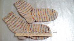 Красивые вязаные носки ручной работы