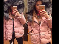 Куртка зимняя женская мех  натуральный.