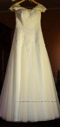Эксклюзивное свадебное платье, айвори.