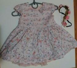 Платье пышное, нарядное и повязка примарк primark