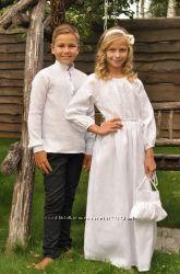 Вишиванка для хлопчика та сукня для дівчинки