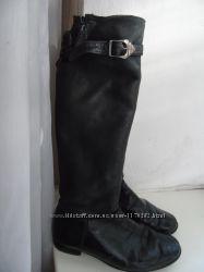 Кожаные сапоги на цигейке 38-39р