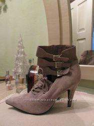 Кожаные французские ботинки 40 р.