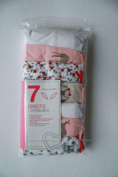 Трусики для девочки с олененком Бемби поштучно и комплектом Primark Англия.