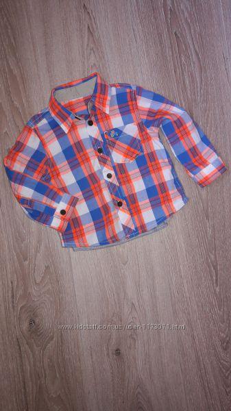 Яркая рубашка Mothercare 6-9 мес.