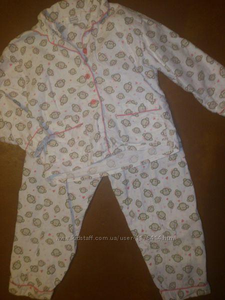Фланелевая пижамка PRIMARK  3-4г на рост 98-106см