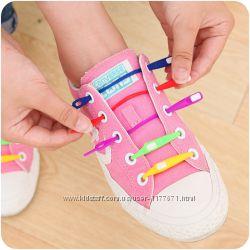 Силіконові шнурки для взуття , світяться
