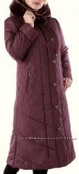 Батал 60 р Зимнее шикарное женское длинное пальто мутон