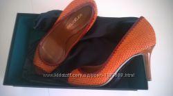 туфли Sergio Rossi, оригинал, Италия, натуральная плетеная кожа